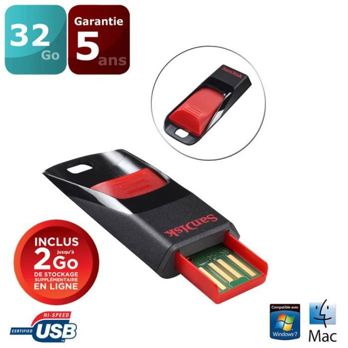 sandisk cruzer edge 32 go cl usb prix pas cher soldes cdiscount. Black Bedroom Furniture Sets. Home Design Ideas