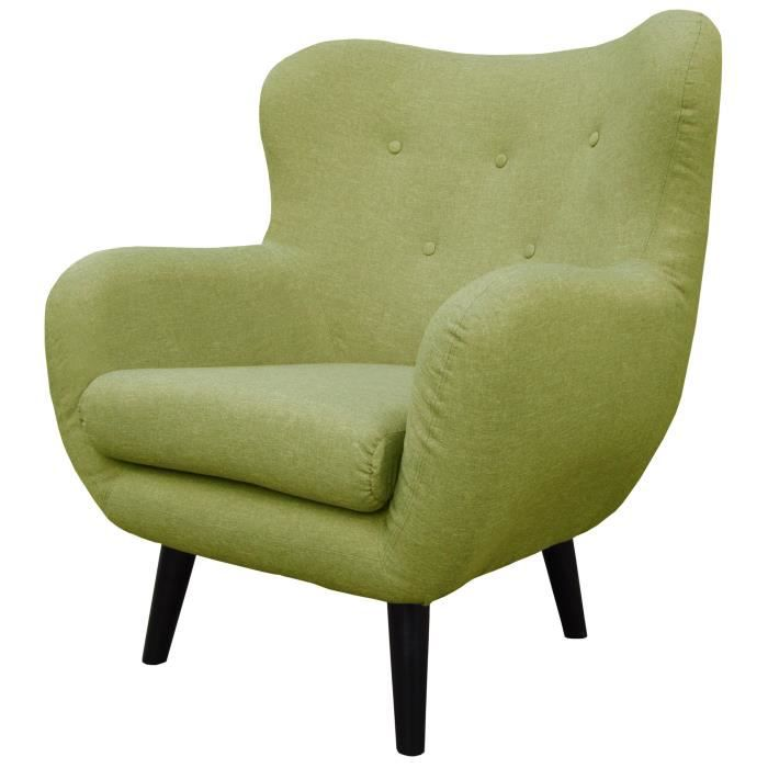 viborg fauteuil scandinave en tissu vert achat vente. Black Bedroom Furniture Sets. Home Design Ideas