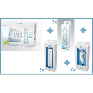 CONSOLE WII CONSOLE Wii SPORTS + 2 Wiimote et 2 Nunchuk supplé