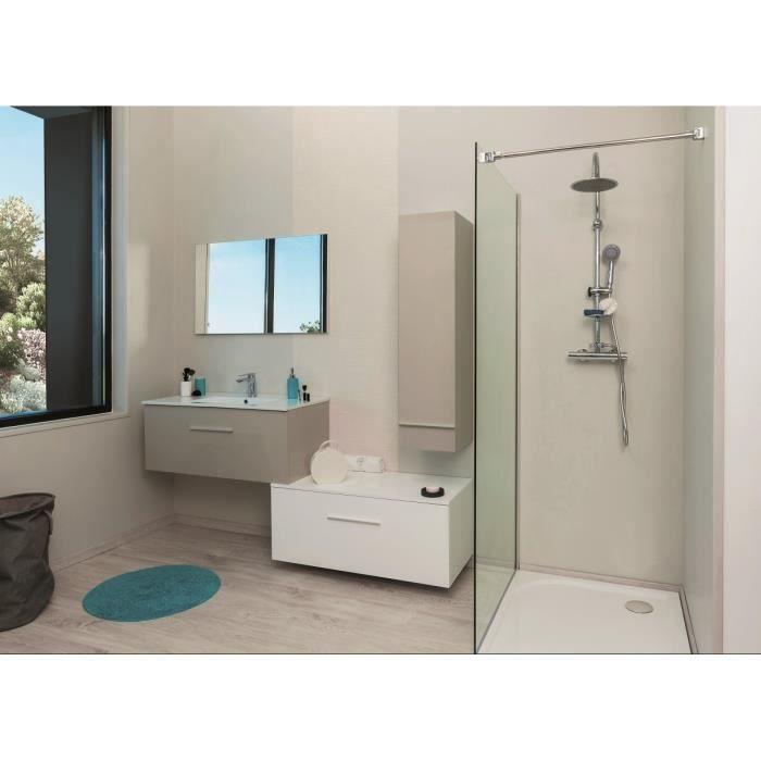 TERRY Meuble bas de salle de bain 90cm - Blanc