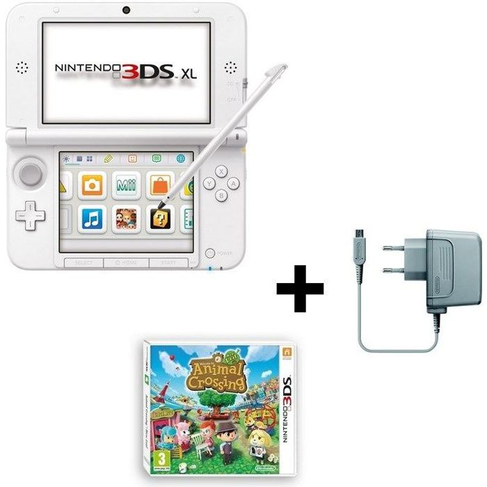 console 3ds xl animal crossing new leaf jeu 3ds achat. Black Bedroom Furniture Sets. Home Design Ideas