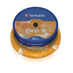 CD - DVD VIERGE Verbatim DVD-R 120 Minutes 16x (25)