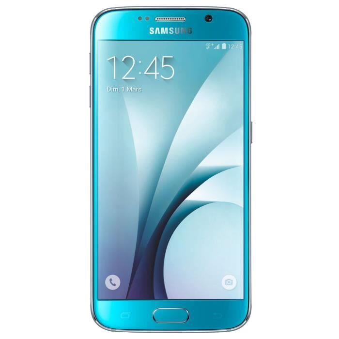 samsung galaxy s6 bleu 32go achat smartphone pas cher. Black Bedroom Furniture Sets. Home Design Ideas