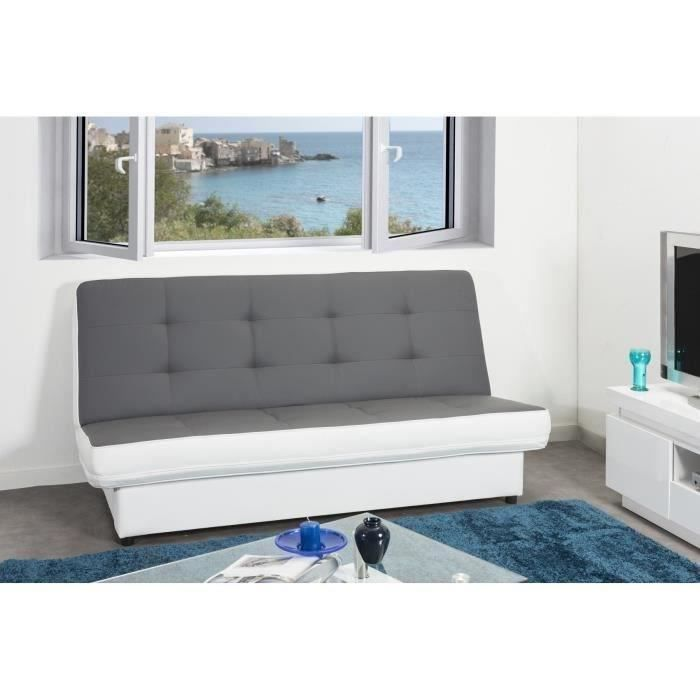 Penkki banquette clic clac convertible lit 2 places simili for Petit clic clac place