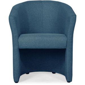 FAUTEUIL NINO Fauteuil cabriolet en tissu bleu nuit - L 65