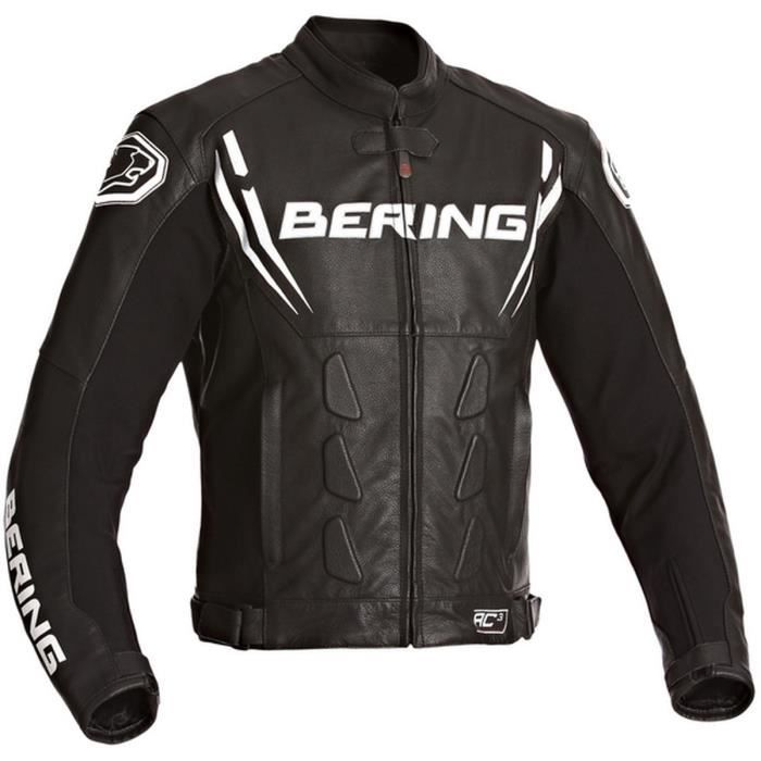 bering sting r blouson moto cuir noir achat vente blouson veste bering sting r blouson. Black Bedroom Furniture Sets. Home Design Ideas