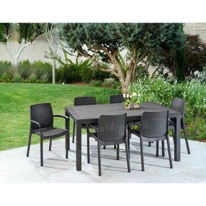 Ensemble table et chaise de jardin KETER Ensemble table de jardin Melody 160 cm + 6 f