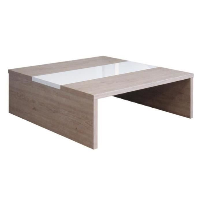muffin table basse ch ne et blanc haute brillance achat. Black Bedroom Furniture Sets. Home Design Ideas