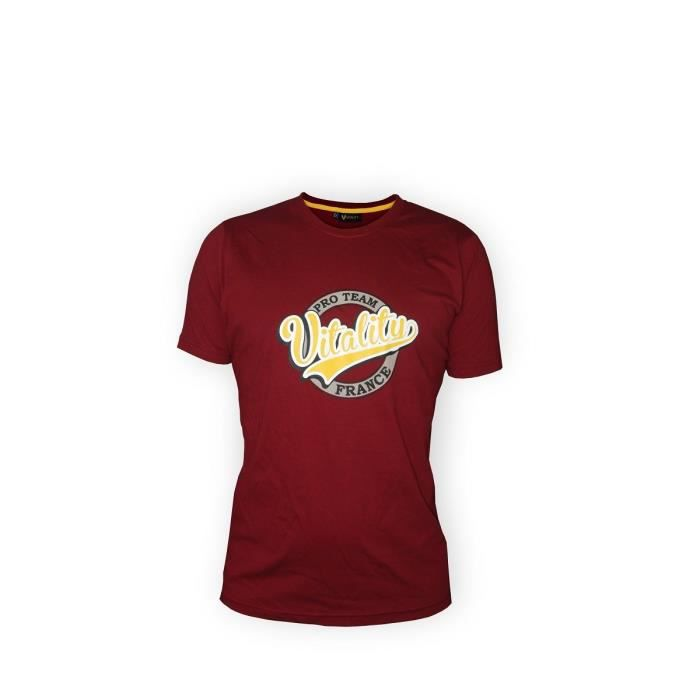 t shirt team vitality homme bordeaux achat vente t shirt t shirt vitality bordeaux cdiscount. Black Bedroom Furniture Sets. Home Design Ideas