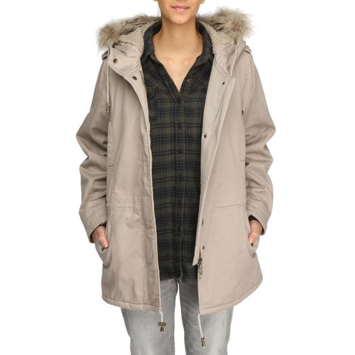 laklook parka longue femme beige achat vente parka laklook parka longue femme cdiscount. Black Bedroom Furniture Sets. Home Design Ideas