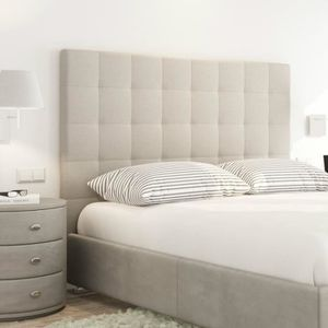 lit capitonne beige achat vente lit capitonne beige. Black Bedroom Furniture Sets. Home Design Ideas