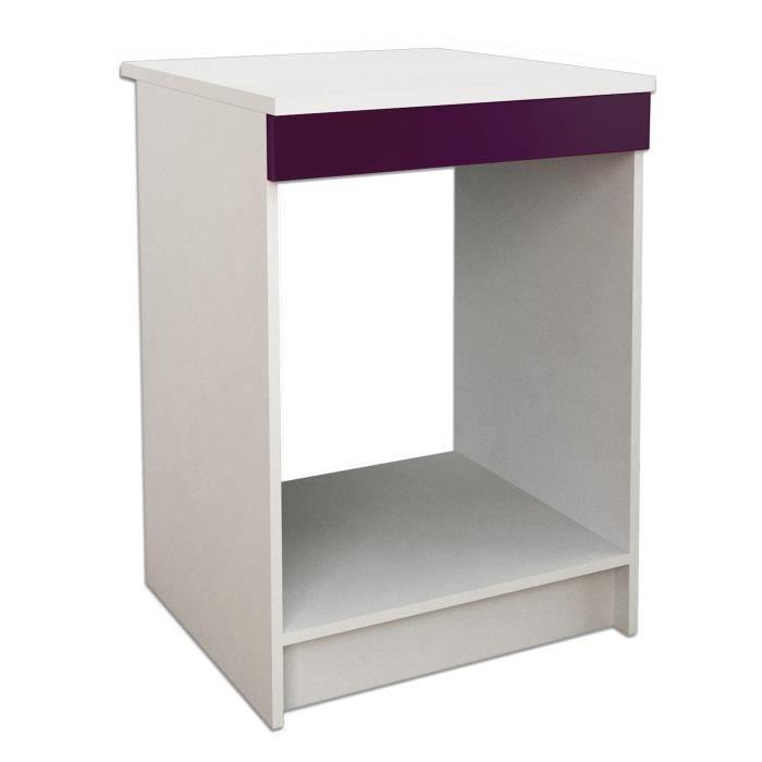 start meuble bas four l 60 cm avec plan de travail inclus