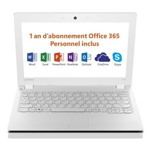 ORDINATEUR PORTABLE LENOVO PC Portable Ideapad 100S-11IBY 11,6