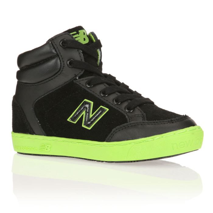 new balance baskets kt1042bfy enfant gar on noir vert fluo achat vente basket cdiscount. Black Bedroom Furniture Sets. Home Design Ideas