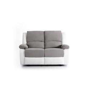 CANAPÉ - SOFA - DIVAN RELAX Canapé de relaxation 2 places - Simli blanc