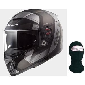 CASQUE MOTO SCOOTER LS2 Casque intégral Breaker Physics + Cagoule - No