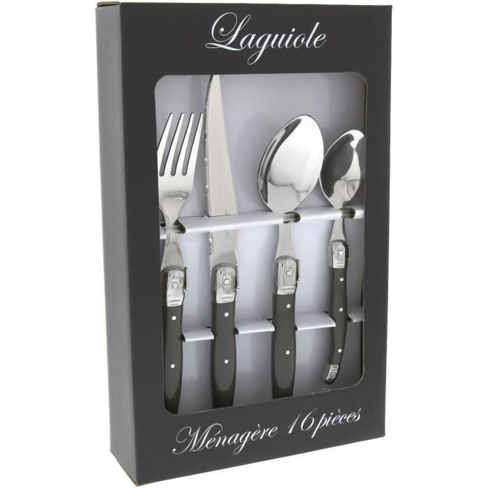 laguiole menagere 24 pieces grise