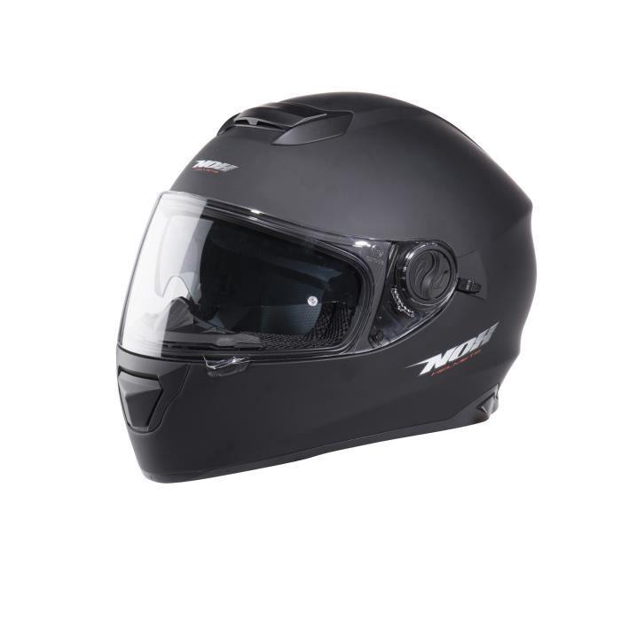 CASQUE MOTO SCOOTER NOX Casque intégral N301 - Noir mat + cagoule