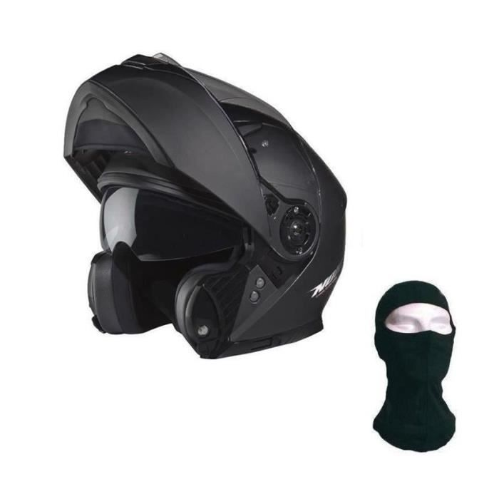 nox n965 casque modulable noir mat cagoule achat vente casque moto scooter nox n965 casque. Black Bedroom Furniture Sets. Home Design Ideas