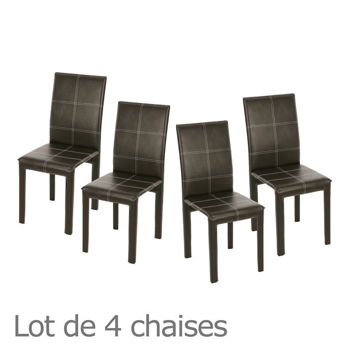 lot de 4 chaises buggy choco surpiq res blanches achat vente chaise m tal cdiscount. Black Bedroom Furniture Sets. Home Design Ideas