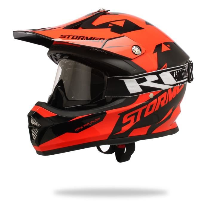 stormer splinter casque polycarbonate orange lunettes achat vente casque moto scooter. Black Bedroom Furniture Sets. Home Design Ideas