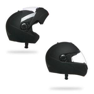 ORIGINAL Casque Moto Modulable Int/égral Double Visi/ère pour Scooter Chopper /· Casque de Moto Homme et Femme