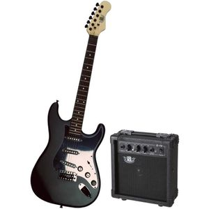 GUITARE LEGEND Pack Guitare Type Stratocaster Black Mat