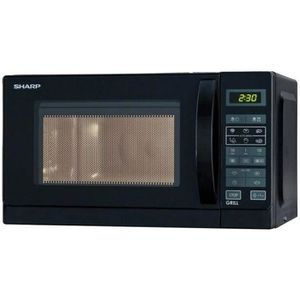 MICRO-ONDES SHARP R642BKW - Micro ondes grill combiné noir - 2