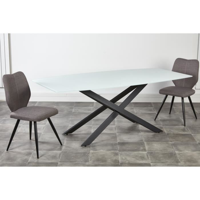Ensemble table manger 6 personnes 200x95 cm 2 chaises for Ensemble table et chaise 6 personnes