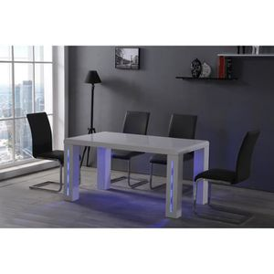table a manger led achat vente table a manger led pas cher cdiscount. Black Bedroom Furniture Sets. Home Design Ideas