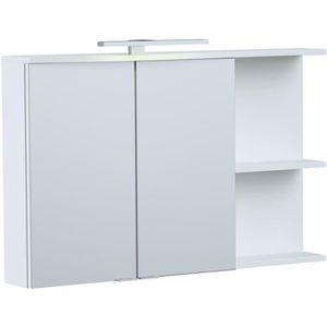 ARMOIRE DE TOILETTE ONDE Armoire de toilette L 90cm - Blanc brillant