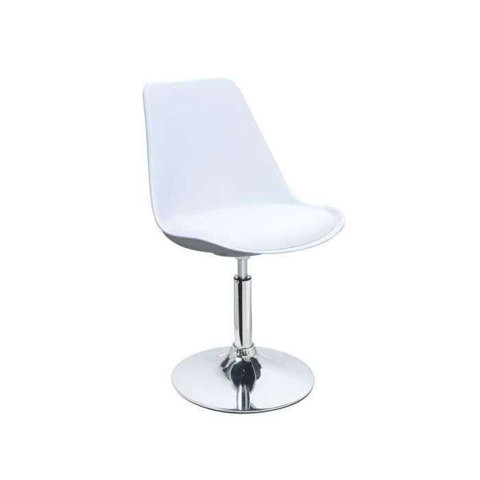 Chaise blanche pas chere simple gallery of chaise blanche - Chaise de bar pas chere ...