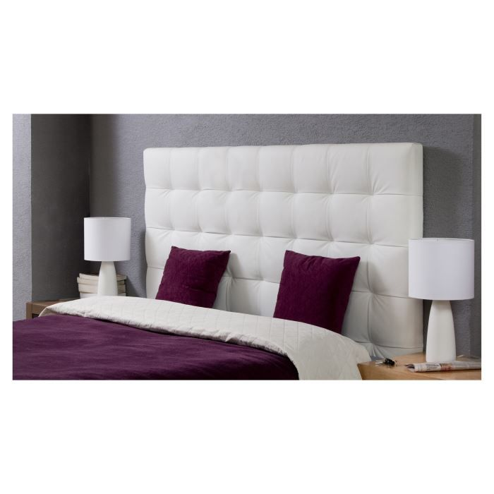 midnight t te de lit adulte 140x120 cm en pu blanc achat. Black Bedroom Furniture Sets. Home Design Ideas