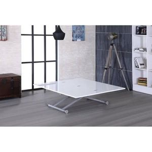 Table relevable extensible achat vente table relevable for Table basse manger transformable