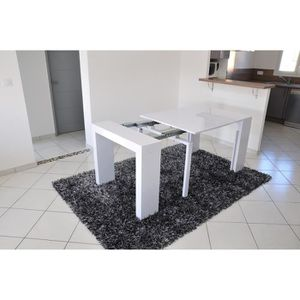 Table extensible laquee blanc achat vente table extensible laquee blanc p - Console extensible 10 personnes ...