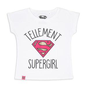 T-SHIRT SUPERGIRL T-shirt Blanc Enfant Fille