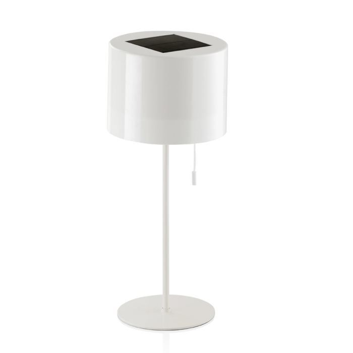 lampe de table nergie solaire blanc achat vente lampe de table solaire soldes d t. Black Bedroom Furniture Sets. Home Design Ideas