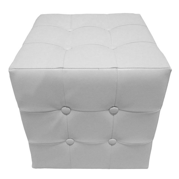 pouf chester uni blanc achat vente pouf poire soldes d t cdiscount. Black Bedroom Furniture Sets. Home Design Ideas