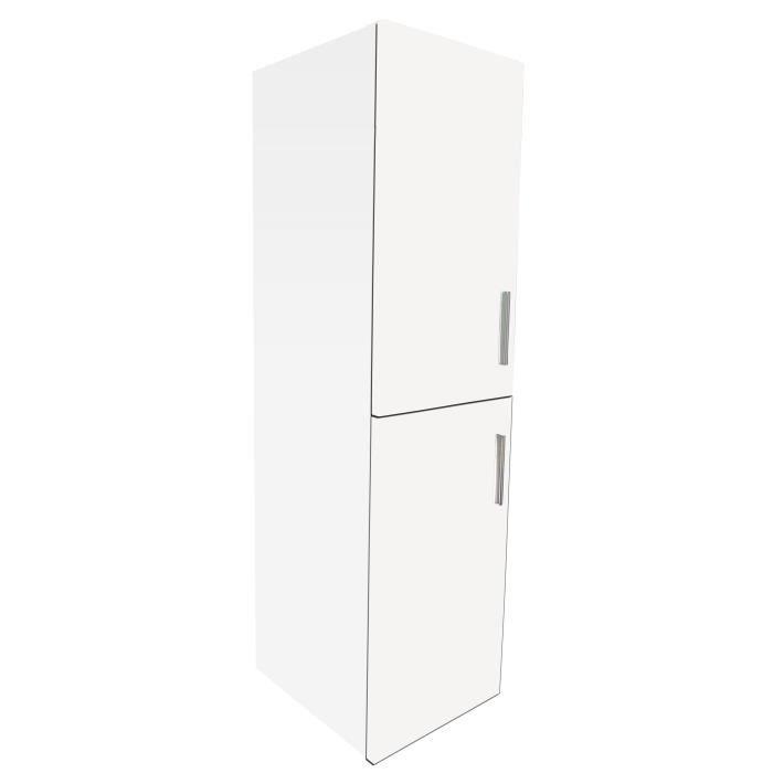 COLONNE - ARMOIRE SDB MODULO Colonne de salle de bain L 39 cm - Blanc ma