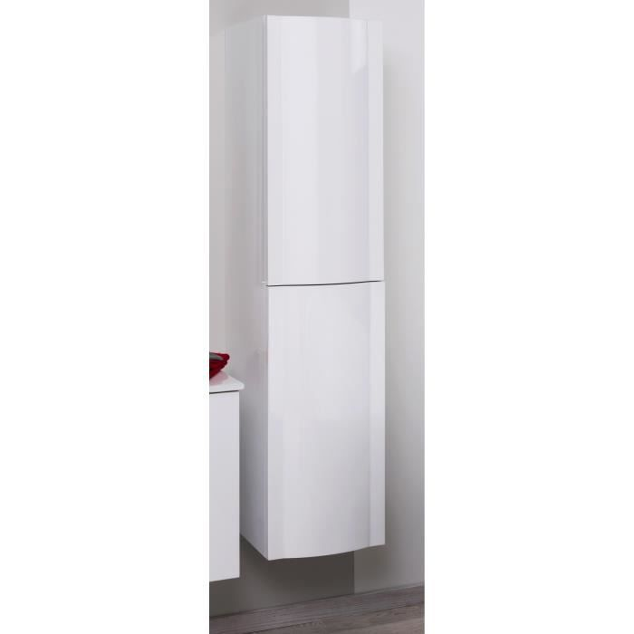 rony colonne de salle de bain 35 cm laqu blanc achat vente colonne armoire sdb rony. Black Bedroom Furniture Sets. Home Design Ideas