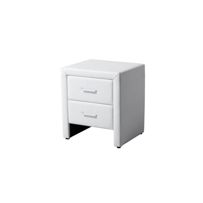 LEEDS Table de chevet - Simili blanc - L 48 cm - Achat / Vente ...