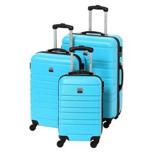 SET DE VALISES FRANCE BAG Set 3 Valises Rigide ABS 4R 55-65-70cm