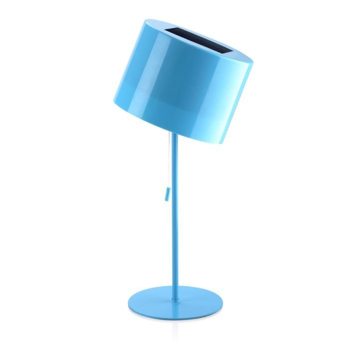 lampe de table nergie solaire bleu achat vente lampe de table solaire abat jour en. Black Bedroom Furniture Sets. Home Design Ideas