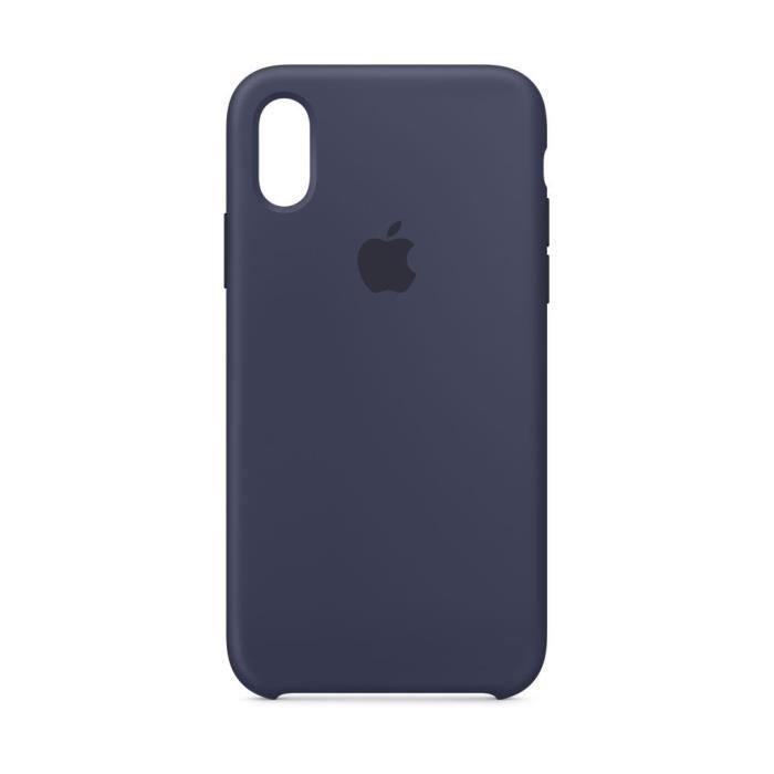 coque en silicone pour iphone xs bleu nuit