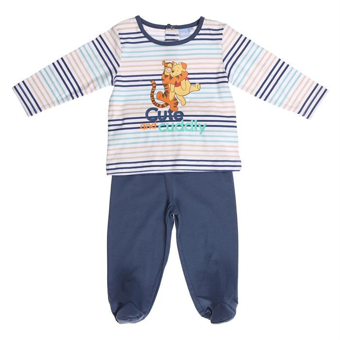 winnie and tigger pyjama 2 pi ces gar on bleu achat vente chemise de nuit cdiscount. Black Bedroom Furniture Sets. Home Design Ideas