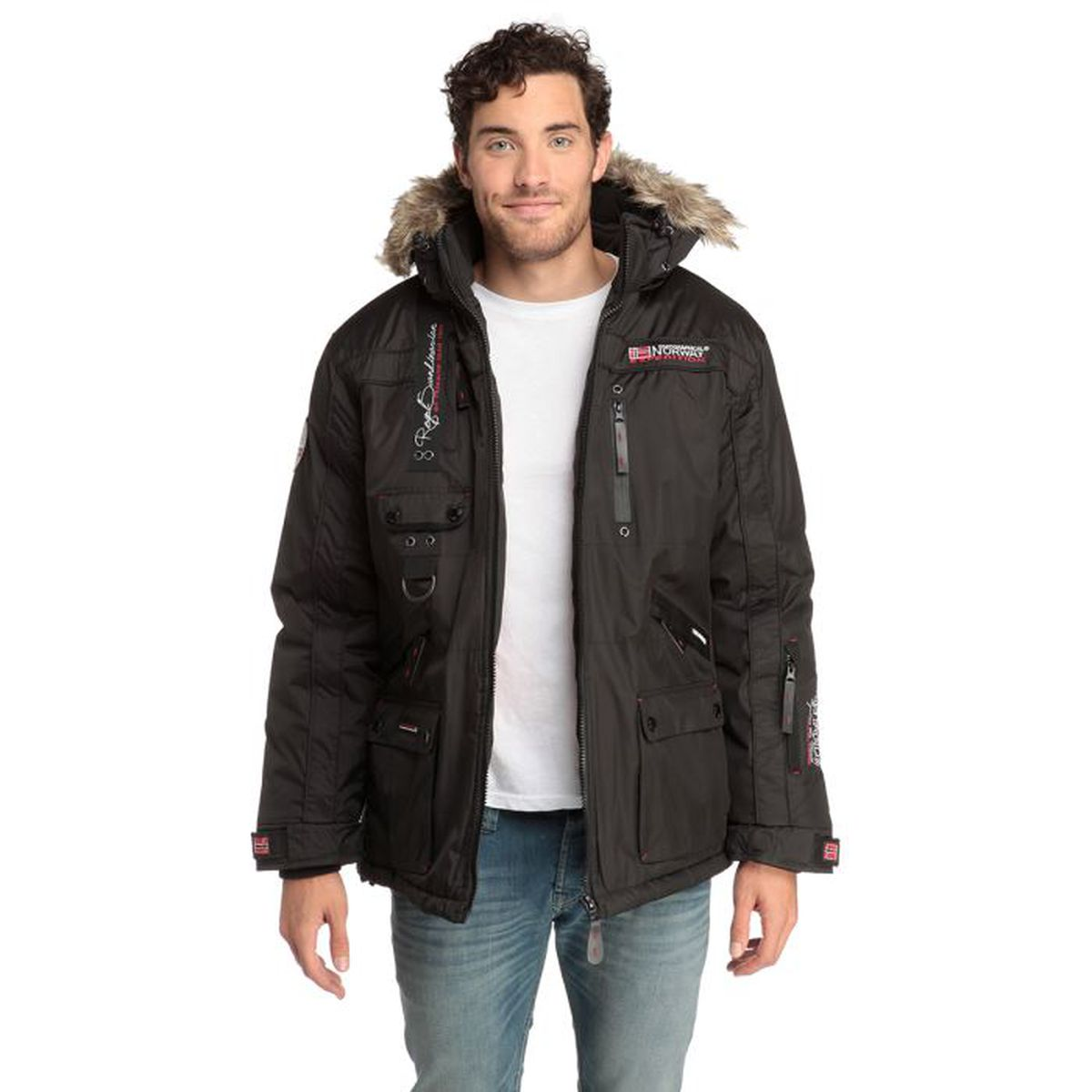 Noir Homme Vente Blouson Achat Geographical Norway qYvxw4