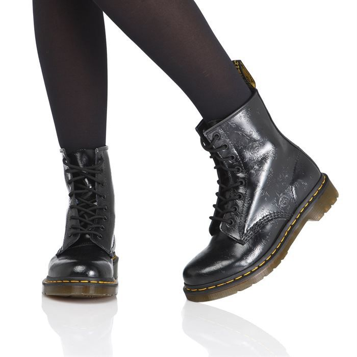 dr martens bottines 1460 femme femme noir achat vente dr martens 1460 femme pas cher. Black Bedroom Furniture Sets. Home Design Ideas