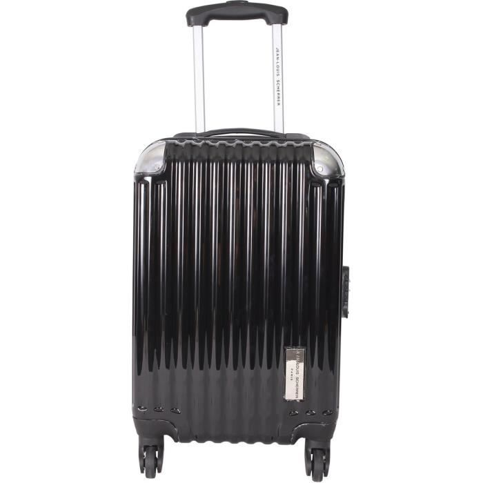 jean louis scherrer valise cabine polycarbonate 4 roues 50 cm noir noir achat vente valise. Black Bedroom Furniture Sets. Home Design Ideas