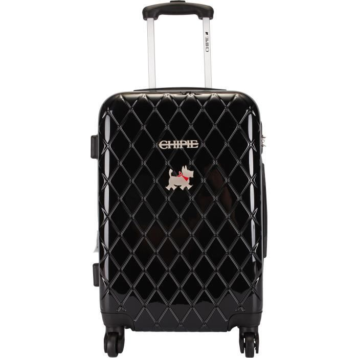 chipie valise cabine rigide abs polycarbonate 4 roues 55 cm bhl black noir achat vente. Black Bedroom Furniture Sets. Home Design Ideas