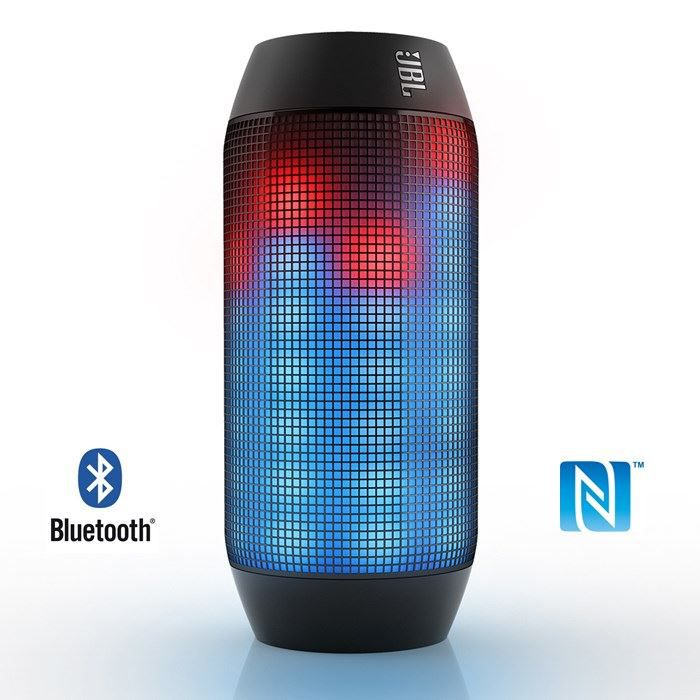 jbl pulse black enceinte bluetooth portable led enceinte. Black Bedroom Furniture Sets. Home Design Ideas